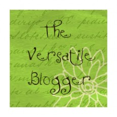 {wow! another award: the versatile blogger}