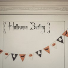 "{free printable: halloween bunting <span class=""amp"">&</span> flags}"