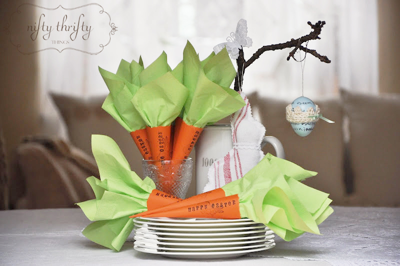 Easter: Carrot Napkin Holders from {nifty thrifty things}
