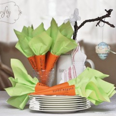{easter: carrot napkin holders}