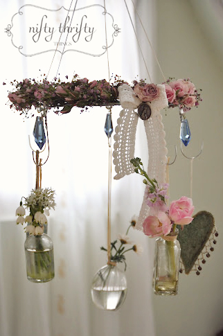 Wire Hanger Chandelier from {nifty thrifty things}