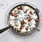 mixed berry clafoutis from {nifty thrifty things}