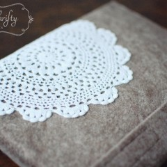 {simple felt iPad sleeve}