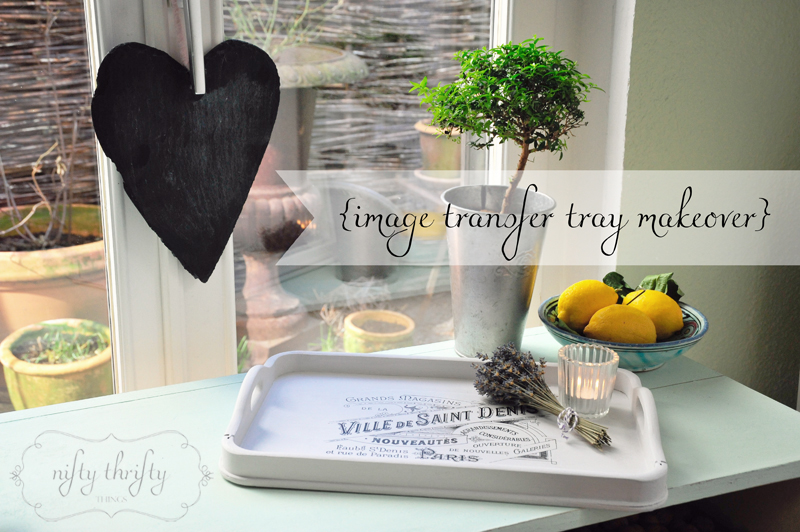 Image Transfer Tray Makeover from {nifty thrifty things}