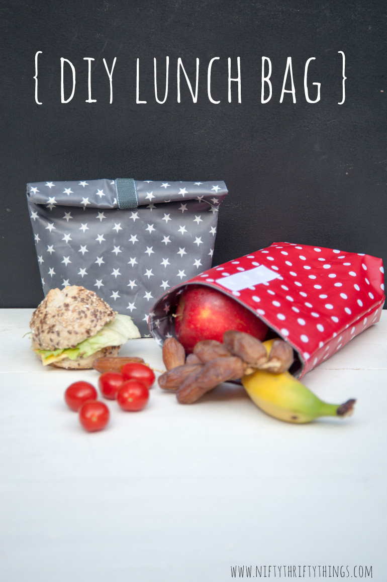 DIY Lunch Bag - Nifty Thrifty Things