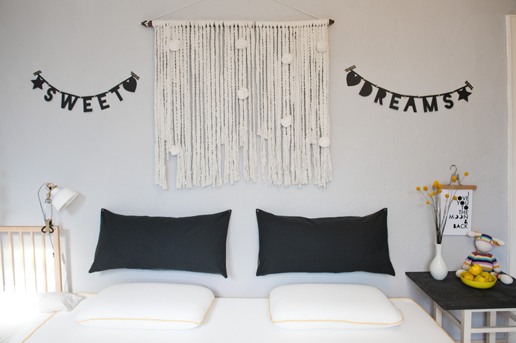 DIY Letter Banner: Sweet Dreams from {nifty thrifty things}