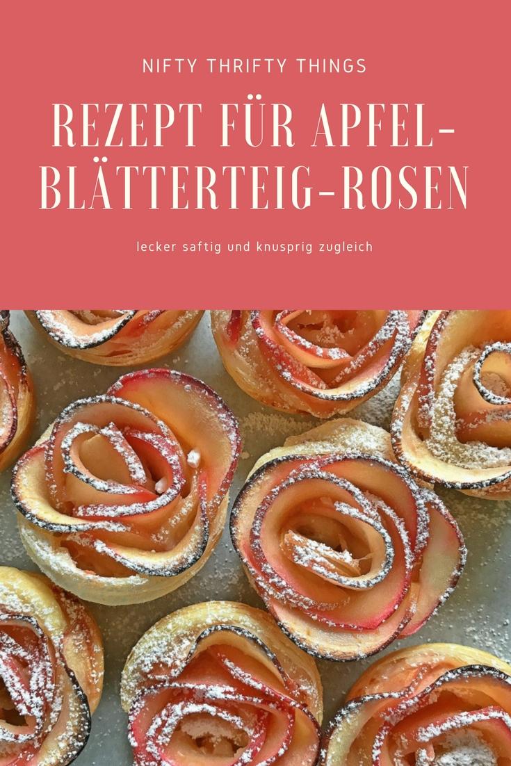 Rezept für Apfel-Blätterteig-Rosen von {nifty thrifty things}